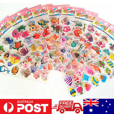Random No Repeat Sheets 3D PVC Puffy Stickers For Kids Scrapbook Decoration