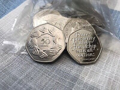 BREXIT 50p COIN SET 2020 & 1973 EU BREXIT COINS FROM SEALED BAGS
