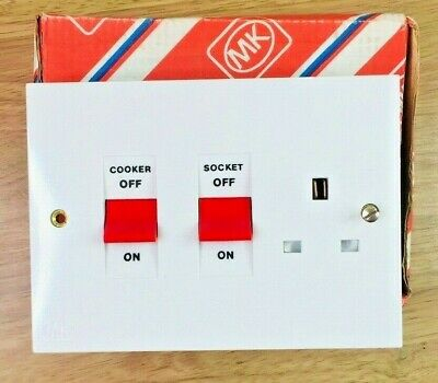 MK Electric K5060 Cooker Control Unit Switchsocket 1-Gang ##BOX PACK##