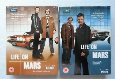Bbc Tv Life On Mars The Complete Series 1 & 2 Dvd Boxed Sets Factory Sealed