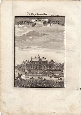Burg Jacobsthal Yacobdal Stockholm   Copperplate 1685 Mallet