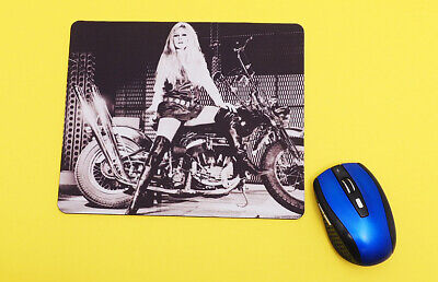 Harley-Davidson Firefighter Original Thin Neoprene Mouse Pad Black MO126581