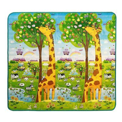 Baby Play Mat Extra Soft Reversible EPE Playmat for Kids Infant Non Toxic Waterp