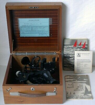1981 Weems & Plath Micrometer Sextants with Case Made in Germany Excellent
