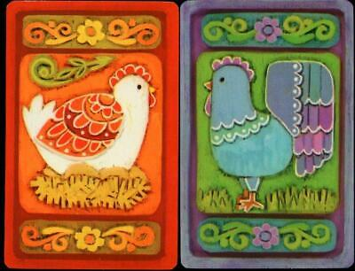 Beautiful Vintage Swap Cards Chickens New  Excellent Condition