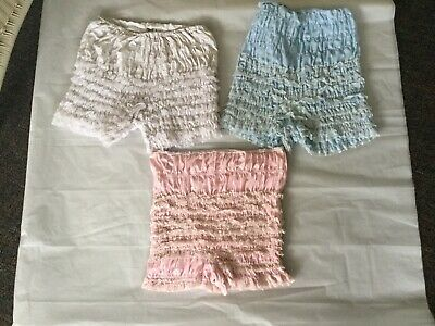 Lot of 3 VTG Rockabilly Frilly Pettipants Swing  Bloomers Size S/M