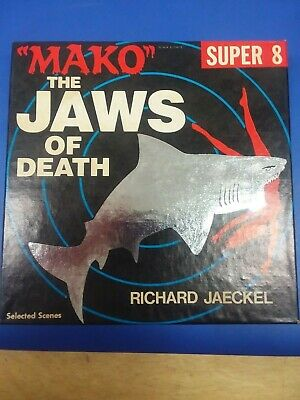"Vintage Super 8mm Mako ""The Jaws of Death"" B&W Film"