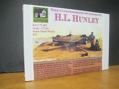 72001 Hunley Confederate Submarine Updated H.L Cottage Industry 1//72 C.S.S