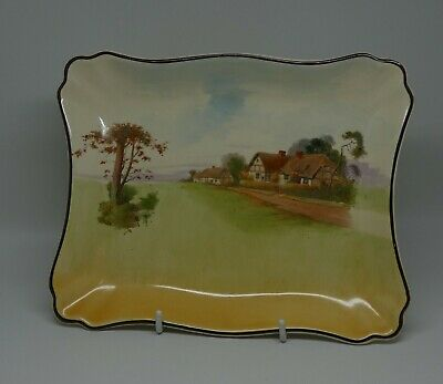 Royal Doulton seriesware English Country Cottages rectangular tray D4987 #2