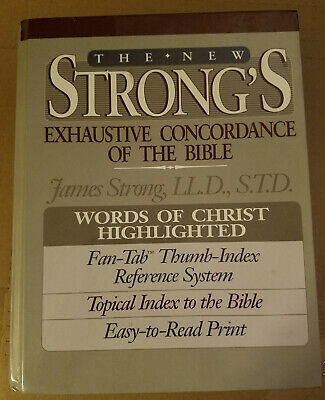 Strong's Exhaustive Concordance of the Bible (New), 1990, Hardback $$$ REDUCED