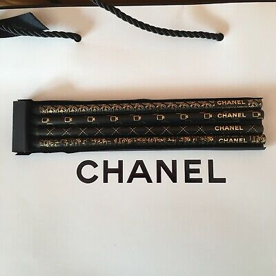 New Gift Chanel Set Of 4 Pencils New & Authentic