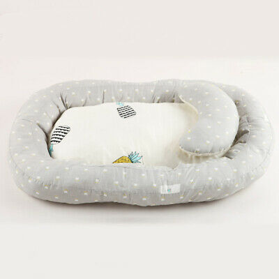 Newborn Baby Bassinet Bed Baby Lounger Infant Crib Nest With Pillow Portable AU