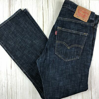 Dark Wash Classic Mens Levi 501 Button Fly Jeans -Size 33/30