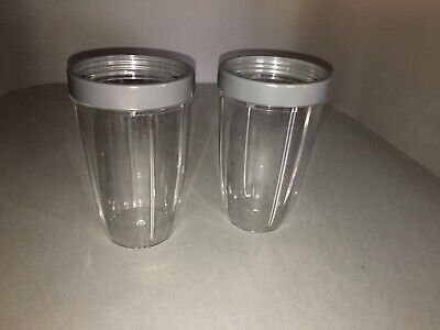 Nutri Bullet Replacement tall cup with comfort ring x2