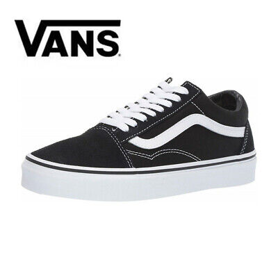 20Vans Old Skool Black White Trainers Shoes Skate Classic Canvas Suede Sneakers