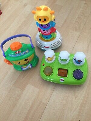 Fisherprice Baby/toddler Toy Bundle, Musical Pop Up Eggs, Build To The Beat & Ca
