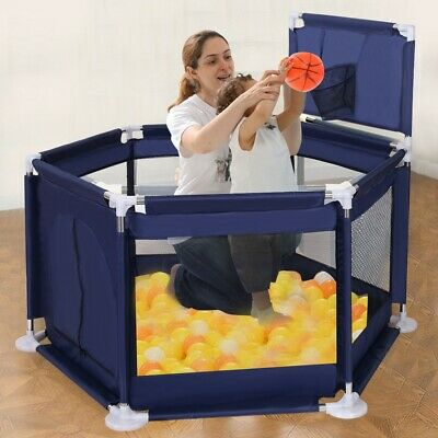 Foldable Baby Playpen Kids Safety Play Center Yard Home Indoor Outdoor Fence US