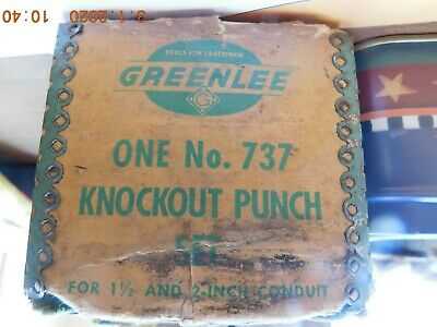 Greenlee No. 737 Knockout Set with case