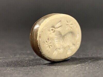Ancient Greek Gem Stone Seal Bead With Double Colouration - Circa 500-300 Bc