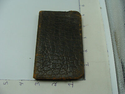 orig 1895 H C TUBBS merry christmas, small note pad, mostly blank, as shown