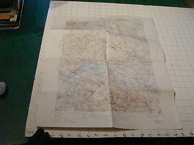topographical map: WOLFEBORO NH 1947, folded