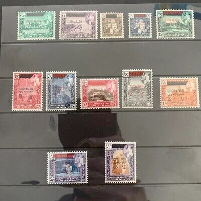 Aden, South Arabia # M42-54 Mnh First Provisional Overprint