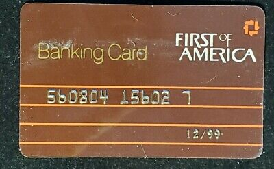 Banking Card First of America credit card exp 1999♡Free Shipping♡cc1235