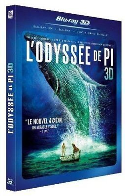 L ODYSSEE DE PI 3D + Blu Ray + DVD NEUF SOUS BLISTER
