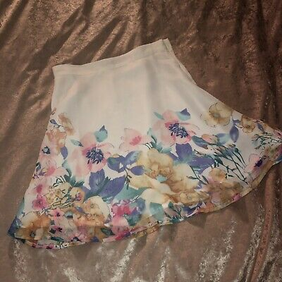 AUTHENTIC For Love and & Lemons NEW Baltimore Floral Floaty Summer Mini Skirt S