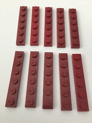 NEUF NEW Red Lego 3460-4x Plaque Rouge Plate 1x8