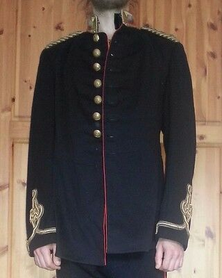 Antique British Edwardian Royal Artillery Captain Dress Uniform Tunic Jacket