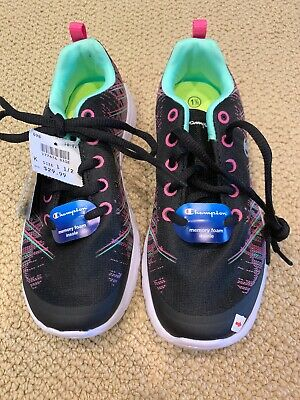 Champion Nwt 1.5 Black Tennis Gym Exercise Running Shoes Girls