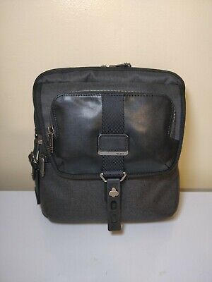 NEW TUMI ARNOLD ZIP FLAP LEATHER BAG CROSSBODY MEN 12.5' x 11.25'' x 2.25''