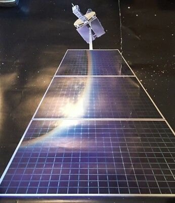 """Vintage 1980's RCA SATCOM Communications Satellite Poster 23x19.5""""inches"""