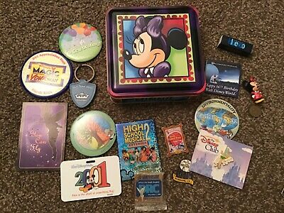 Lot Of Different Disney Pins And Buttons  Collectibles Minnie tin and more