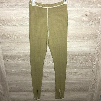 Intimately Free People Womens Small Green Cotton Lounge Pants NEW NWOT