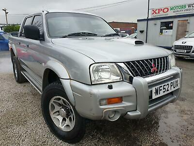 2002 Mitsubishi L200  2.5 TD Warrior Limited Edition Crewcab Pickup 4dr