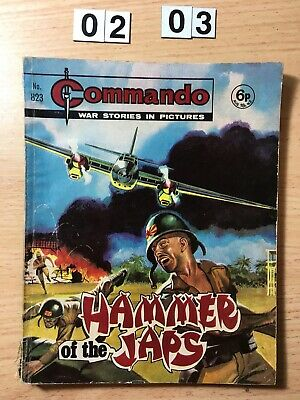 """Commando Comic # 823 from 1974  """"Hammer of the Japs""""    Good Cond"""