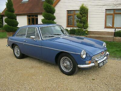 1968 Mgb Gt. Mineral Blue With Black Leather Interior, Overdrive & Wire Wheels
