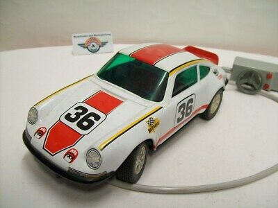 Porsche Carrera RS #24, 1972, white/red, Batterie, Joustra (Made in France)