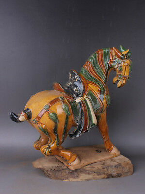 Chinese Antiques Three colors horse