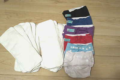 4 Alva Baby and 2 Generic Diapers and 12 Inserts-NEW!