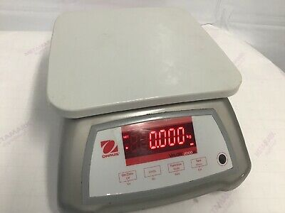 Ohaus Valor 2000 Water Proof Scale, Food Industry, Internal Battery