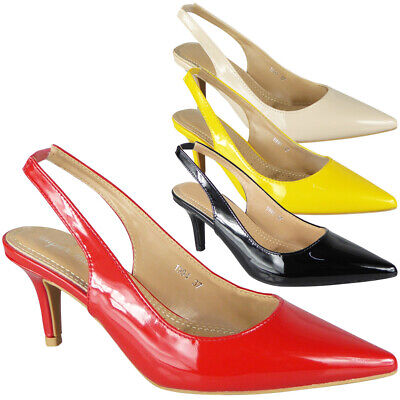 Womens Pointed Sandals Ladies Summer High Stiletto Heel Slingback Comfy Shoes