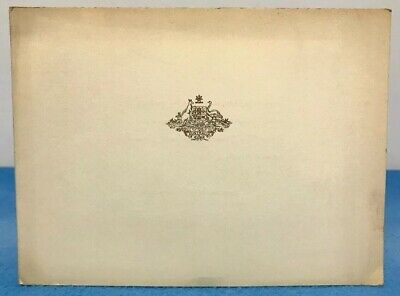 Vintage Christmas Card High Commissioner Australia India Roy Gollan 1950 Delhi