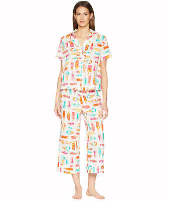 kate spade new york Flavor of The Month Ice Cream Print Cropped PJ Set Large