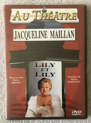 NEW!!  DVD in French: LILY et LILY, Au Theatre, Jacqueline Maillan, 2001