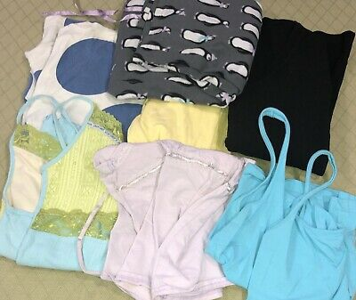 Womens Lot of 7 Sleep Pieces Size L Mostly Tops Mixed