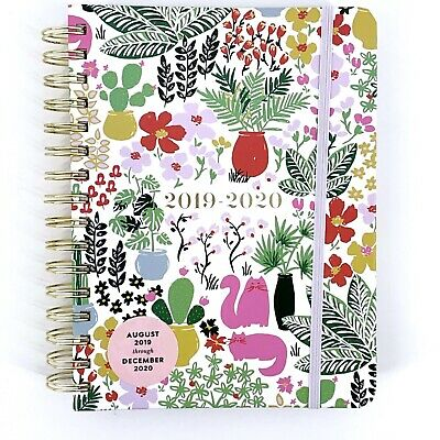 Kate Spade Garden Posy Cat Flower 17 Month Calendar Planner Large