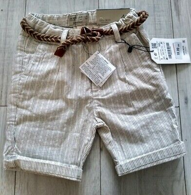 ZARA Boys Pinstriped Shorts & Belt  Brand New With Tags Age 4, 6, 7  Free Post